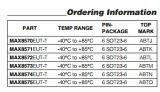 Le circuit intégré Max8574eut-T de l'affichage à cristaux liquides Boostwith rectifient l'arrêt IC