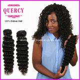 Quercyの毛の熱い販売の加工されていない卸売100%未加工バージンのペルーの深い波の毛の化学薬品自由に