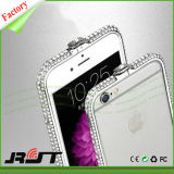 Caso luxuoso da tampa traseira do iPhone 6/6s do quadro do Rhinestone (RJT-A058)