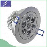 백색 알루미늄 3W 5W 7W 9W 12W 15W LED 천장 Downlight