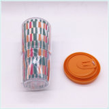 Eco passte farbiges Kaffee-Doppeltes PET Saft-Papiercup an