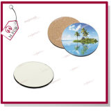 MDF Cork Wood Coaster 10cm Sublimation Printed