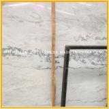 Le blanc chinois colore les marbres en pierre pour des carrelages, brames, partie supérieure du comptoir