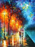 Canvas에 Handmade Palette Knife Modern Oil Painting