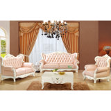 Sofà di cuoio del salone per mobilia domestica (992B)