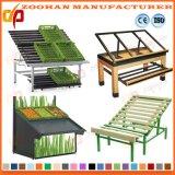 Metallische Obst- und GemüseAusstellungsstand-Zahnstange für Supermaket Zhv38