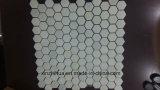 Мозаика плиток белого мрамора Polished