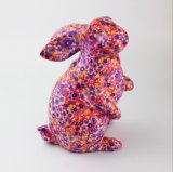 Bancos Piggy cerâmicos pintados de baixo preço da fábrica coelho azul direto
