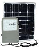 10-50W luz de inundação psta solar ao ar livre do diodo emissor de luz do IP 65 com sensor de PIR