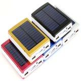 banco portátil externo da potência solar de carregador de bateria do telefone do diodo emissor de luz 12000mAh