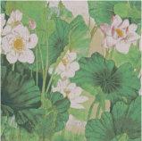 Peinture à la fleur de carreaux de mosaïque en verre de mur (PT027)