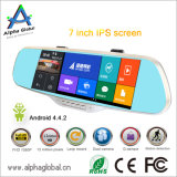 "7 "" hintere Ansicht-Spiegel-Auto-Flugschreiber androides Videogerät GPS-Bluetooth FM WiFi"
