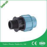 Garnitures en plastique de tuyauterie de polypropylène de connecteurs de tuyauterie de garnitures de picot de boyau de polypropylène