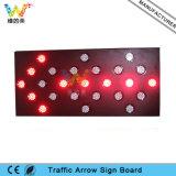 トラックによって取付けられる黄色いLEDの矢ライト交通標識のボード