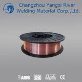 Alambre de soldadura de cobre del En G3si1 MIG 0.8m m con el carrete plástico