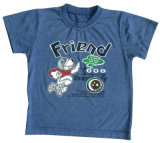3D 면 질 Sqt-614로 입어 아이에 있는 세척 아기 아이들 t-셔츠