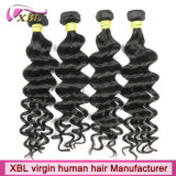 Tecido de cabelo mal-humorado de cabelo humano livre de produtos químicos