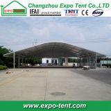 Grande tenda trasparente di Arcum per la mostra