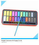 24 cores Water Color Cake em Iron Box para Painting e Drawing