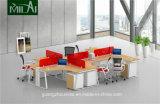 Populärer Metallbein-Büro-Schreibtisch mit beweglichem Schrank für 6 Leute