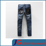 Form Skinny PU Splicing Harlen Biker Jeans für Men (JC3399)