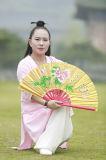 Ejercicios de la mañana del resorte de las mujeres de la ji del Tai del Taoism y del lino del verano que se divierten el juego de la manera