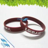 Изготовленный на заказ напечатанный логосом выдвиженческий Wristband силиконовой резины
