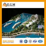Модель виллы/модель здания/архитектурноакустическая модель делая/весь вид знаков/модели