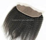 Hairpieces livres do laço da peça da onda frontal baixa de seda dos acessórios 4*13
