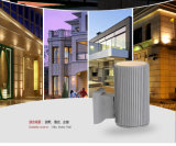 Abajo al aire libre para material ligero Lámpara de pared de aluminio de 3 años de garantía luz LED