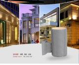 Unten helles im Freien Wand-Lampen-Aluminiummaterial 3 Jahre der Garantie-LED Leuchte-