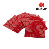 Bolsillo rojo de la cubierta del paño de Fashional (KCE-0004)