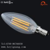 Regulable No estroboscópico C35 E12 UL LED bombilla de filamento con UL