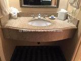 Parte superiore di vanità dell'oro G682 del deserto del granito della Cina per la stanza da bagno