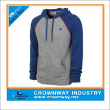 Autumn Long Sleeve Custom Made Full Face Zip Hoodie for Men