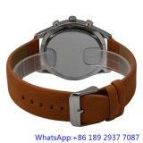 本物バンド、人のクロノグラフの腕時計(HLJA-15176)が付いている最上質のステンレス鋼の水晶腕時計