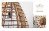 Plafonnier pendant décoratif en bois de DEL