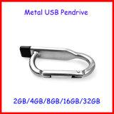 Memoria Flash del USB de Pendrive del metal del mecanismo impulsor del flash del USB del gancho de leva que sube