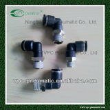 Union Elbow Male Pneumatic Hose Fittings Push dans Fitting