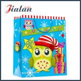 Мешок пакета бумаги подарка логоса нового праздника рождества прибытия изготовленный на заказ