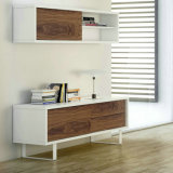 Pure White Frame及びWalnut Doors (T209)のTV Stand