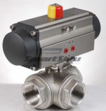 Steel di acciaio inossidabile Pneumatic Ball Valve con Pneumatic Actuator