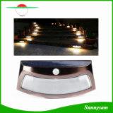 옥외 점화 방수 정원 램프 태양 에너지 8 LED PIR 운동 측정기 벽 빛 안전 단계 층계 빛