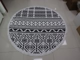ふさが付いているカスタマイズされた反応印刷の綿の円形のビーチタオル