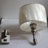 Europäisches Hotel-dekorative aufgetragene Messingkopfende-Wand-Lampe