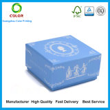 Логос печатание изготовленный на заказ твердой коробки ювелирных изделий подарка бумаги картона упаковывая