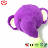 Cirle Toy Sounds Baby Rattle를 가진 코끼리 Shape Purple Head