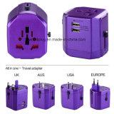 Universele Travel Adapter met 2 USB, Output 2500mA, USA/UK/EU/Aus Plug