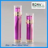 Bottiglia di plastica senz'aria di colore di lusso del metallo di alta qualità