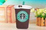 Случай /iPhone 6 iPhone 6 аргументы за телефона силикона индивидуальности кружки кофеего Starbucks добавочный